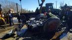 فجیع ترین تصادف پراید زیر چرخ های کامیون +تصاویر باورنکردنی