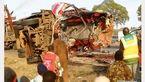 47 کشته و مجروح درتصادف تریلی و اتوبوس + عکس
