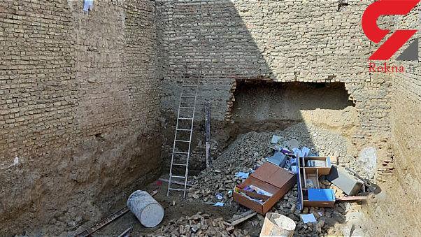 گودبرداری غیر اصولی ساختمان دو طبقه ای را تخریب کرد