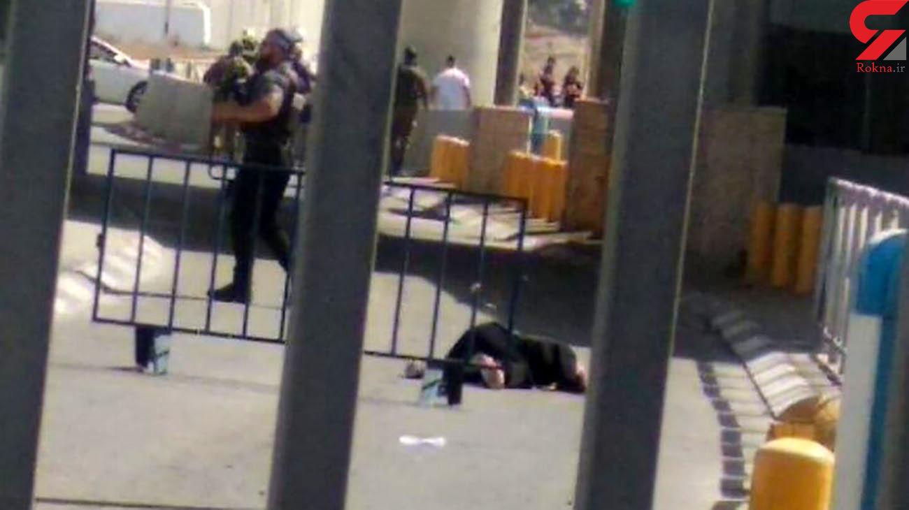 عکس صحنه شهادت زن جوان با گلوله صهیونیست ها