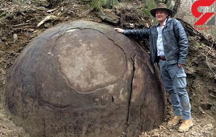 کشف بزرگ ترین توپ سنگی 1500 ساله + فیلم