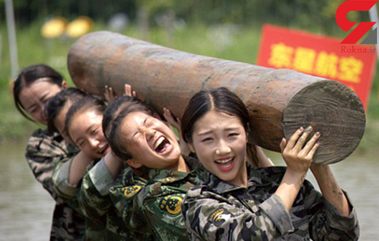 با این مهمانداران زن شوخی نکنید+عکس آموزش نظامی