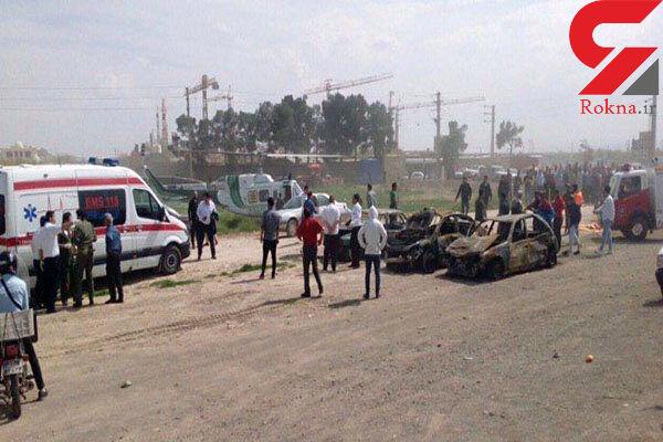 فیلم تصادف وحشتناک در اتوبان تهران - ساوه / 7 تن کشته و 14 تن به شدت مجروح شدند + تصویر