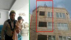 نجات پسر بچه تبریزی به دست آتش نشانان + عکس