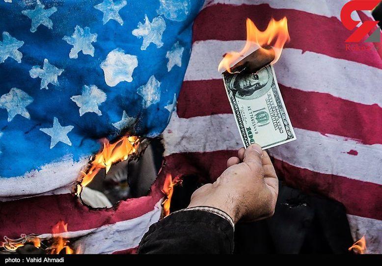 آتش زدن ۱۰۰ دلاری در راهپیمایی امروز؟! +عکس