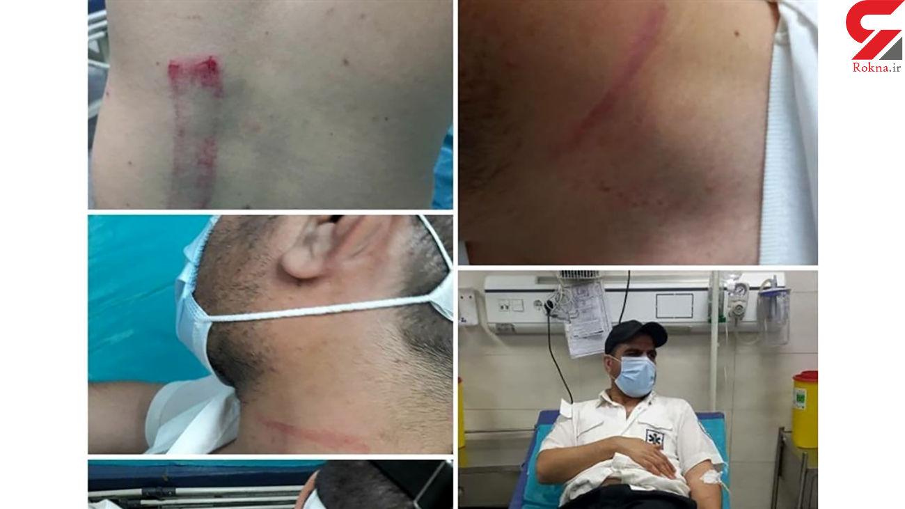 کتک خوردن کارشناسان اورژانس قزوین / بستری مصدومان در بیمارستان + عکس