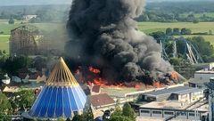دومین پارک بزرگ تفریحی اروپا طعمه حریق شد