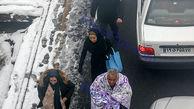 شهروند تهرانی با پتو به خیابان آمد !+عکس