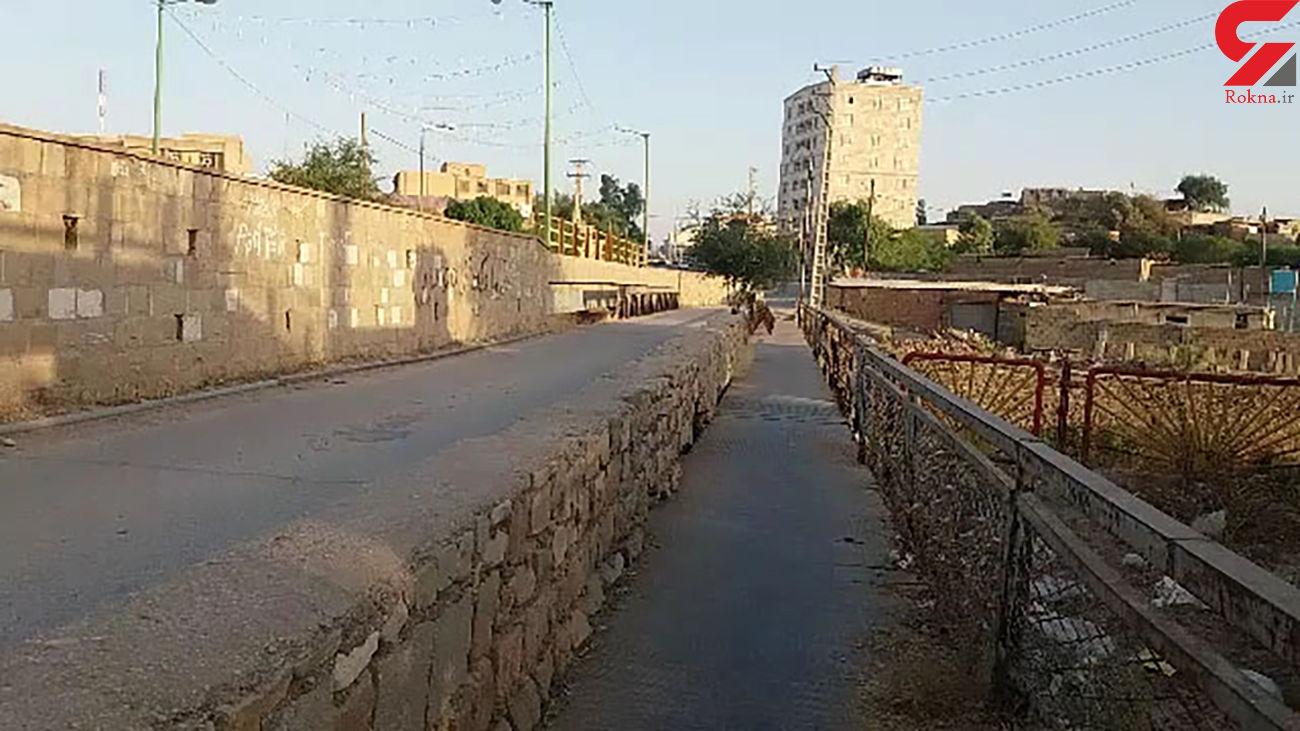 عبور از این پل دل شیر میخواهد + فیلم / خوزستان
