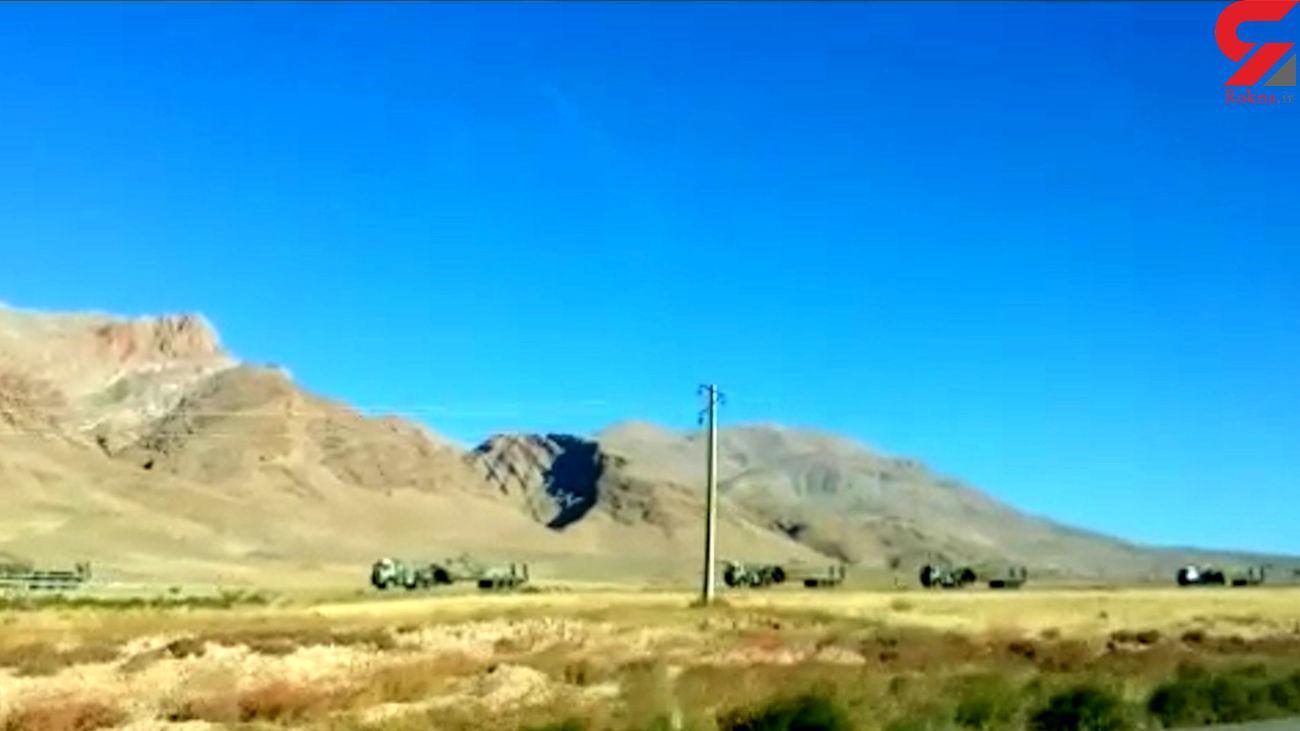 استقرار یگانهای زرهی سپاه پاسداران در مناطق مرزی آذربایجان+ فیلم