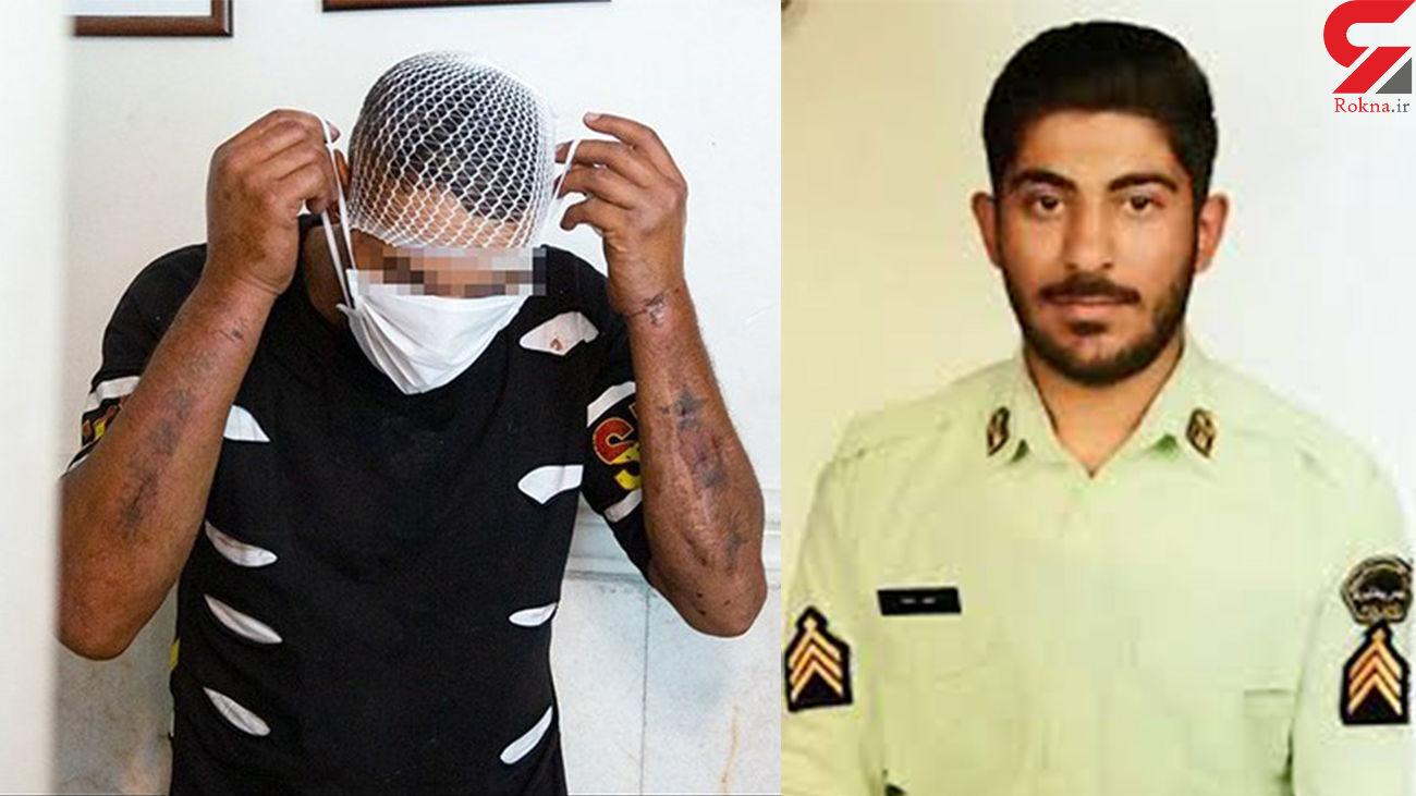 اعتراف دزد جوان به شهید کردن مامور موتورسوار پلیس + عکس شهید و قاتل