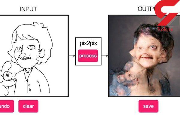 ابزاری که نقاشی های ساده را به تصاویر ترسناک تبدیل می کند