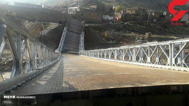 سقوط دوباره پل در معمولان / قطع راه ارتباطی 4 روستا  وسکوت مسئولان + عکس