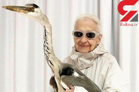 پیرزن پرحاشیه 95 ساله در فضای مجازی کولاک کرد+تصاویر