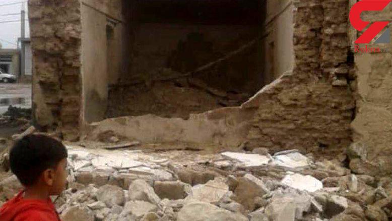 اولین تصاویر از زلزله قشم / خانه های خشتی آوار شدند