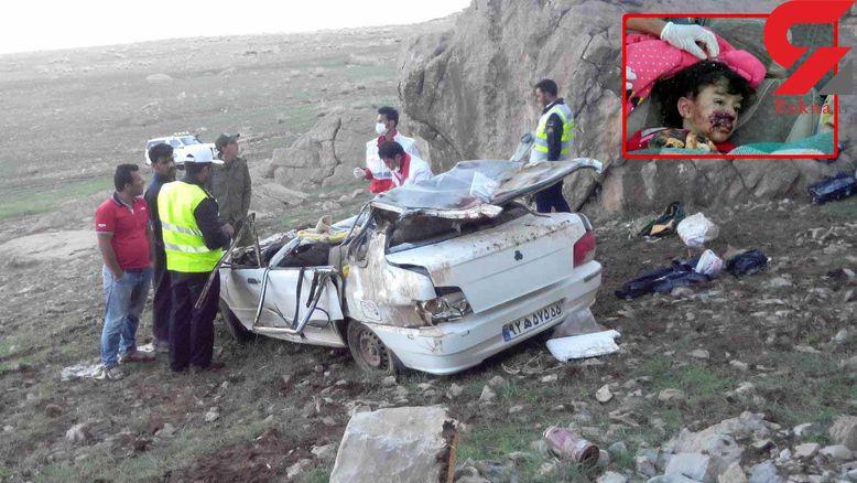 نجات دختر 4 ساله پس از سقوط به عمق دره  ۵۰ متری در یاسوج +عکس