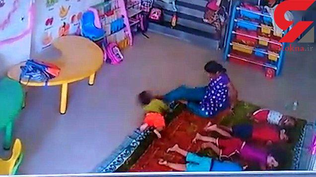 دانلود ارز ایرانی فیلم اقدام کثیف پرستار مهد کودک با پسر 9 ماهه در برابر دوربین ...