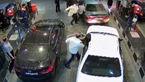 فیلم لحظه رفتار خشن پلیس ایران با متهم فراری در پمپ بنزین + فیلم