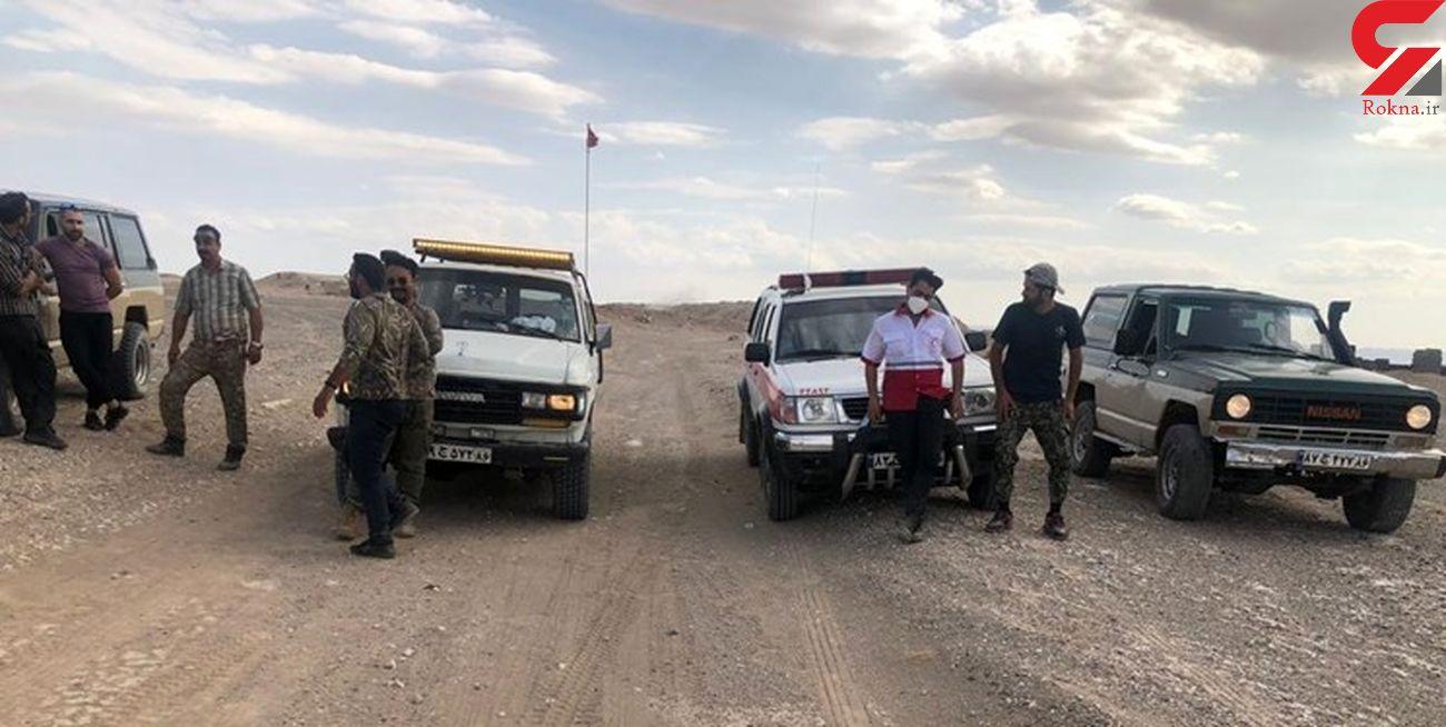 نجات ۲ مفقودی در کویر سمنان + تصاویر