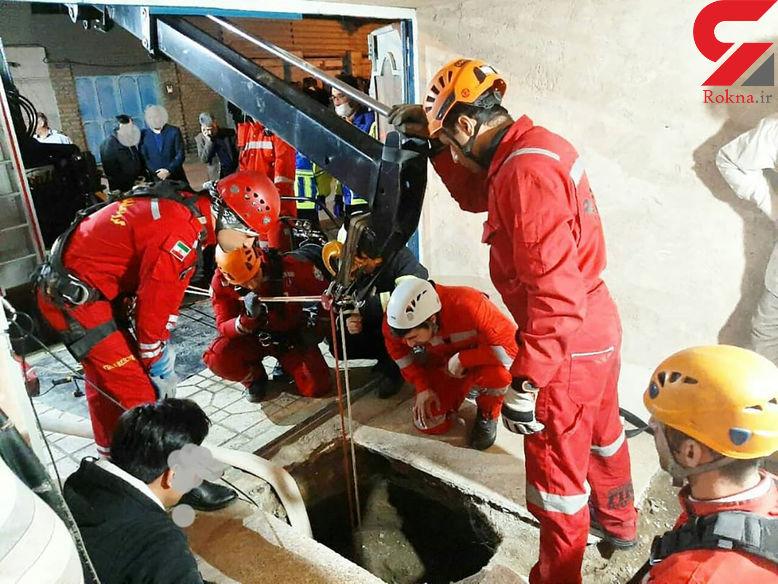 سقوط مرگبار مرد میانسال در چاه خانه در مشهد + عکس