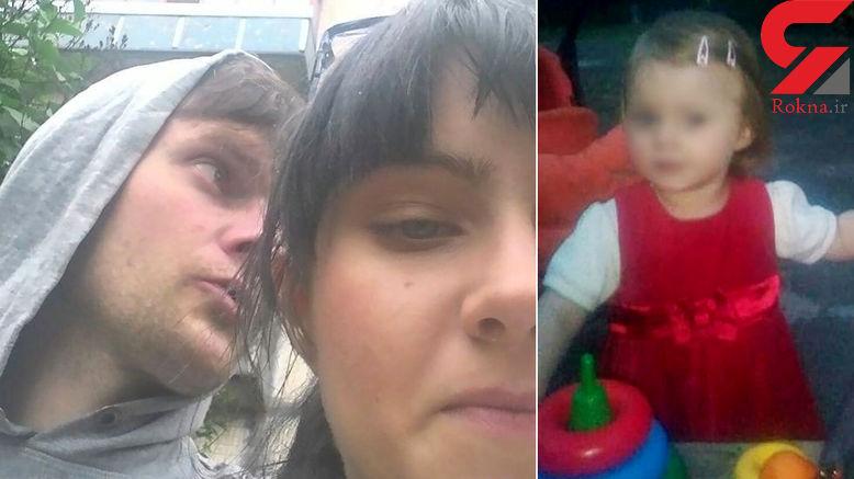 نجات معجزه آسای دختر 2 ساله بعد از 9 روز زندگی کنار اجساد پدر و مادر / این واقعه اکراین را به هم ریخت + عکس