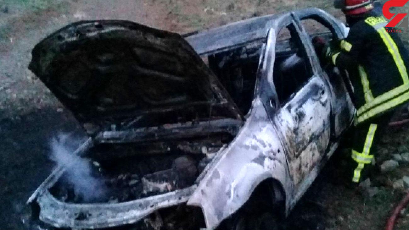 زنده زنده سوختن 2 نوجوان بازیگوش مشهدی در آتش سوزی خودرو + عکس