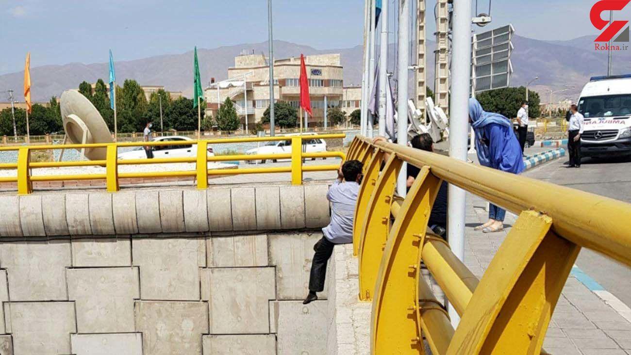 عکس لحظه خودکشی یک مرد روی پل در نیشابور