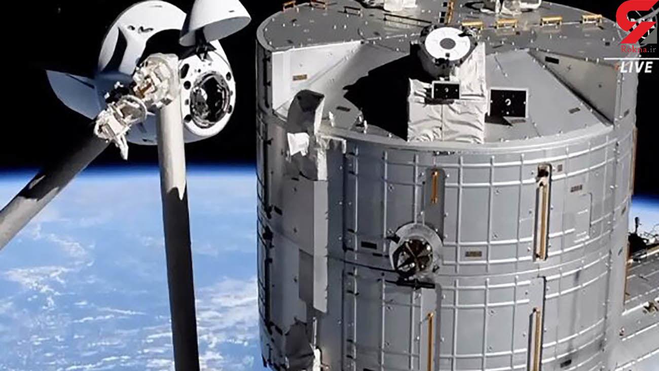 اسپیس ایکس ۴ فضانورد را به ایستگاه فضایی بین المللی رساند
