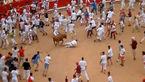بازی با شاخ و دم گاو وحشی حمله وحشتناک گاو را به دنبال داشت !+فیلم