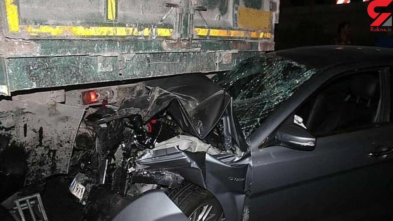6 قربانی براثر تصادف دنا و کامیون در کرمانشاه