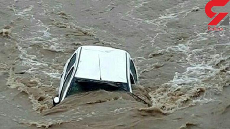 نجات جان یک زن و شوهر از سیلاب مرگبار در بردسکن