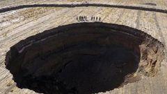 زمین یزد دو شقه شد! + عکس