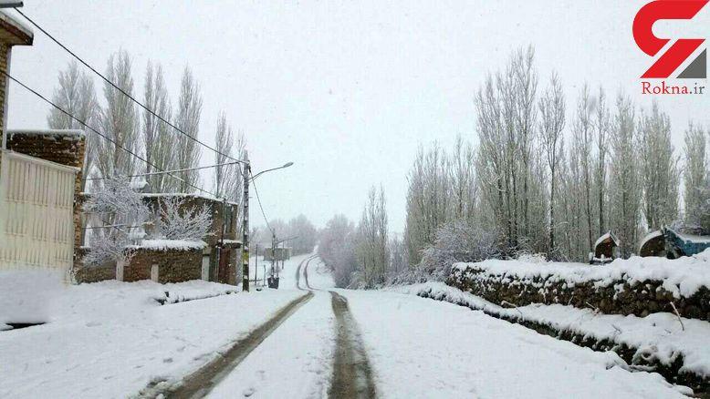 بارش برف راه ارتباطی 200 روستای الیگودرز را بست