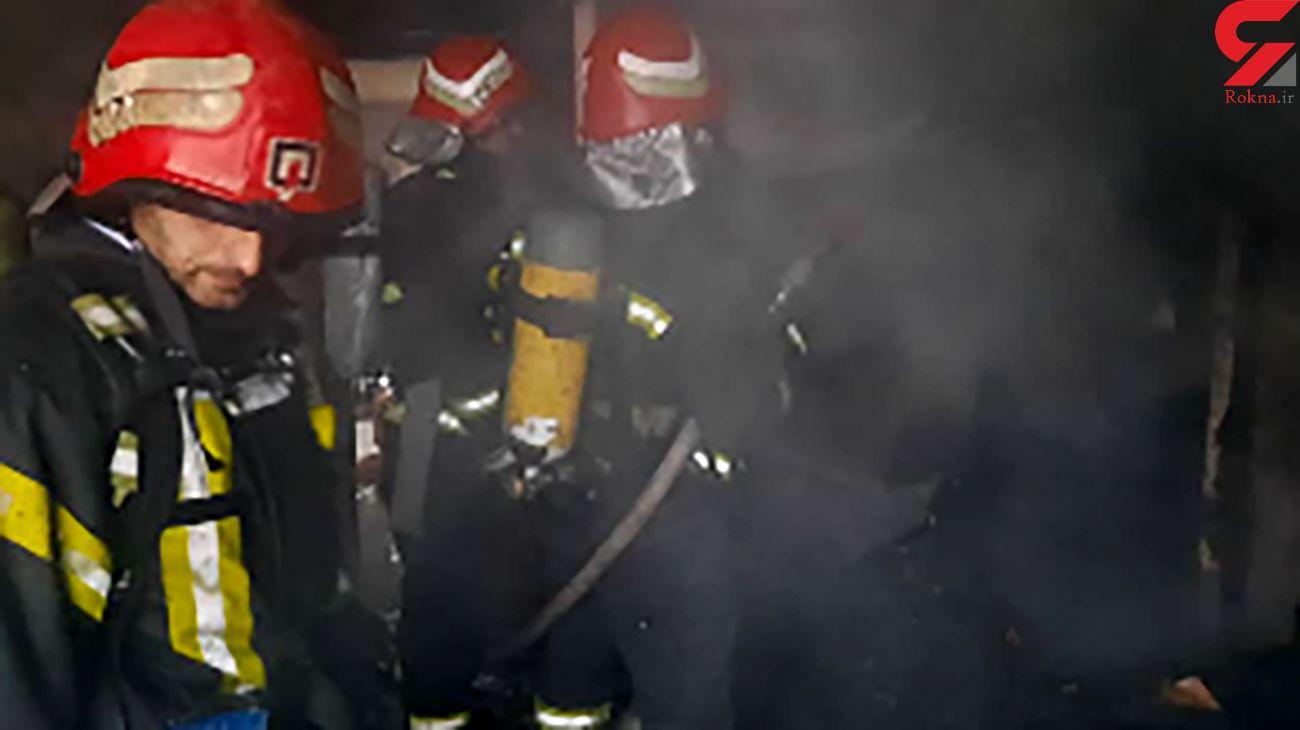 فیلم لحظه آتش سوزی بزرگ در شهرک گلسار رشت