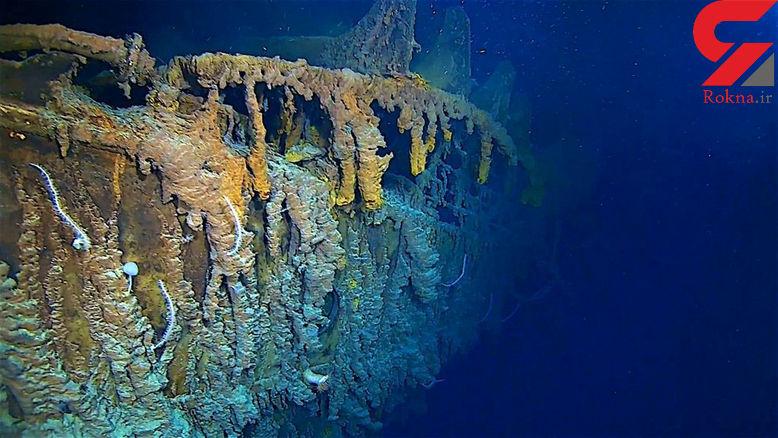 کشتی تایتانیک برای بار دوم در اعماق دریا فاجعه به بار می آورد+ عکس