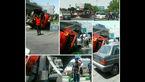 فداکاری آتش نشانی مشهد برای جلوگیری از یک حادثه وحشتناک + عکس
