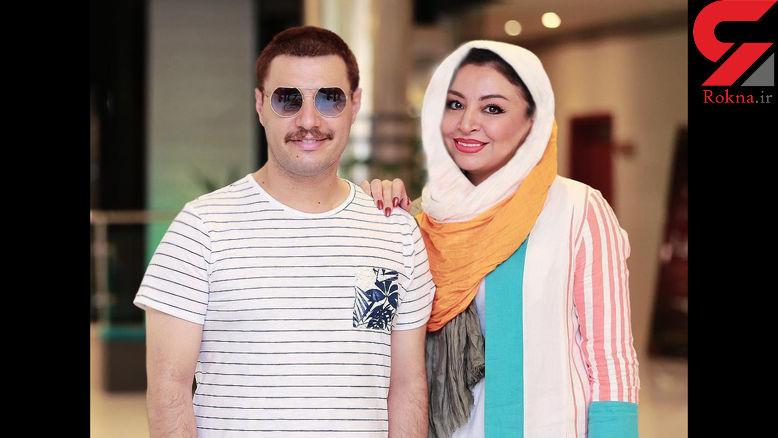 جواد عزتی و همسرش در جشن فیلم آینه بغل +عکس