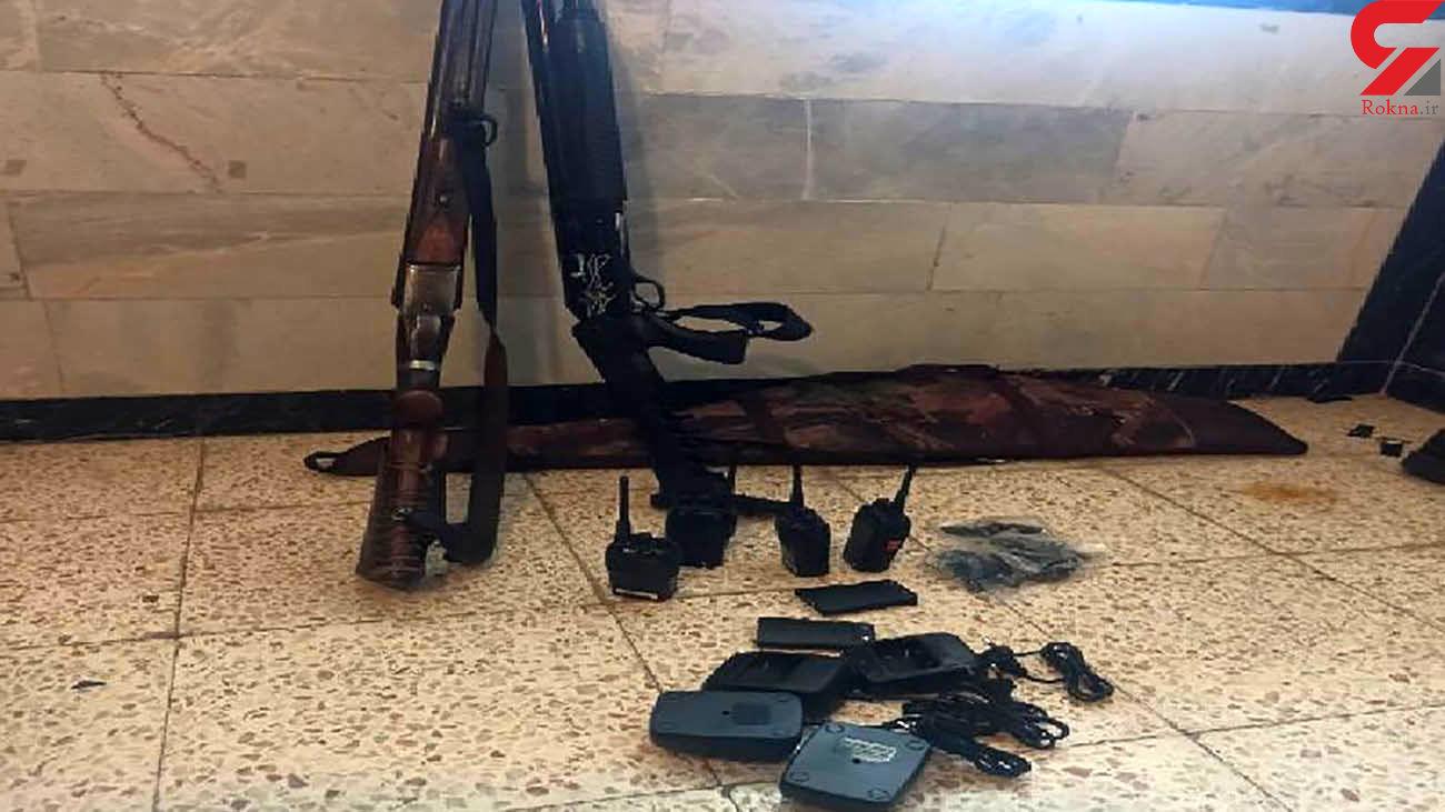 کشف 15 قبضه اسلحه شکاری غیر مجاز در مهاباد