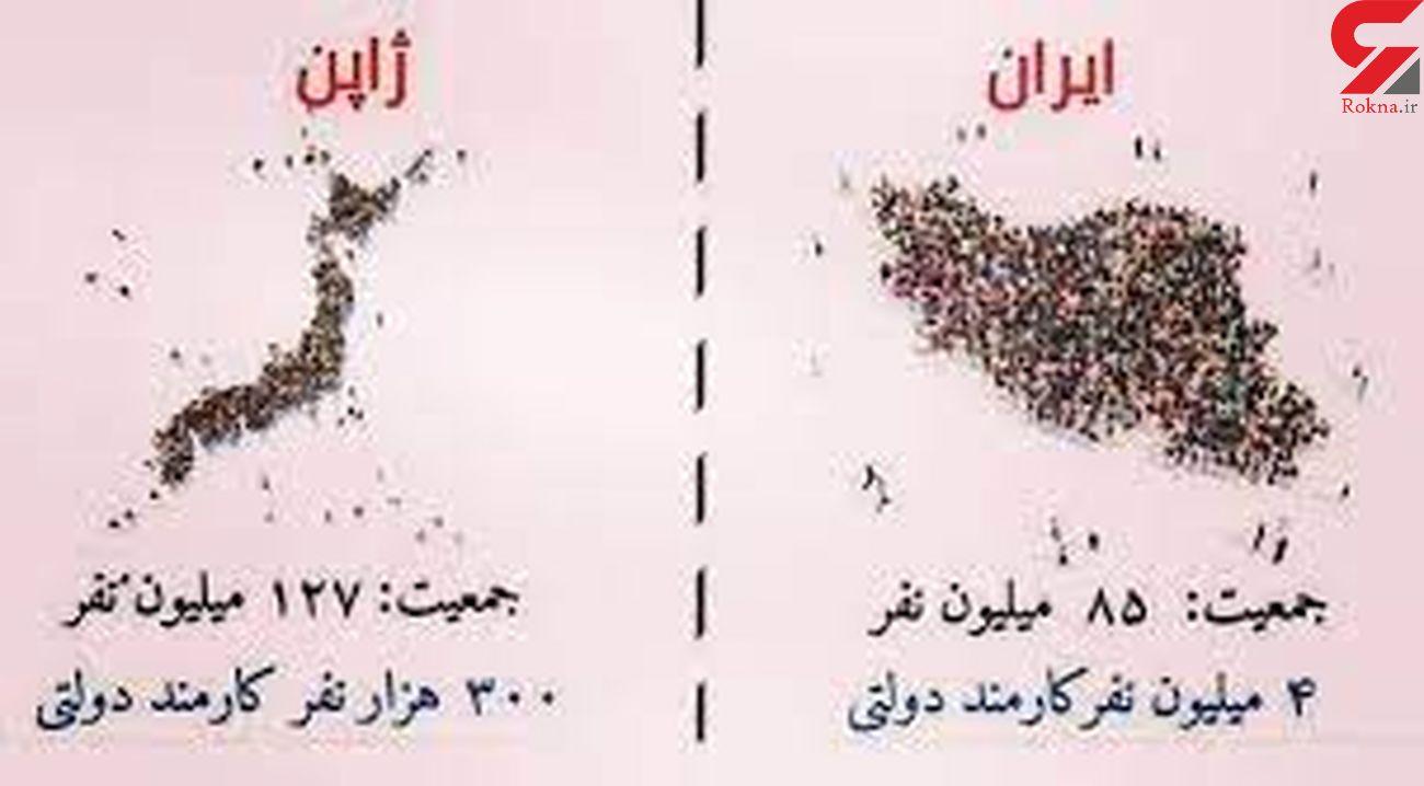 مقایسه کارمندان دولتی ایران و ژاپن!