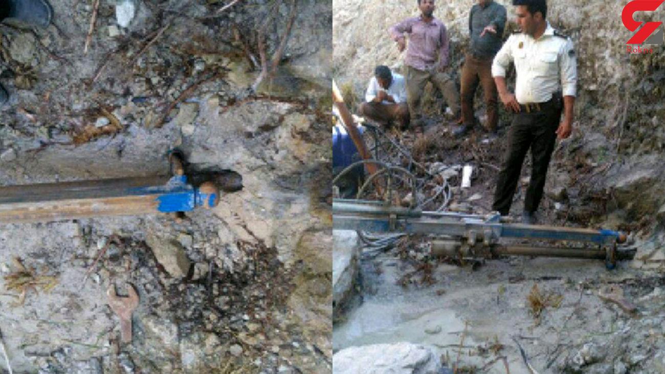 شناسایی و توقیف یک دستگاه حفاری غیرمجاز در اردبیل