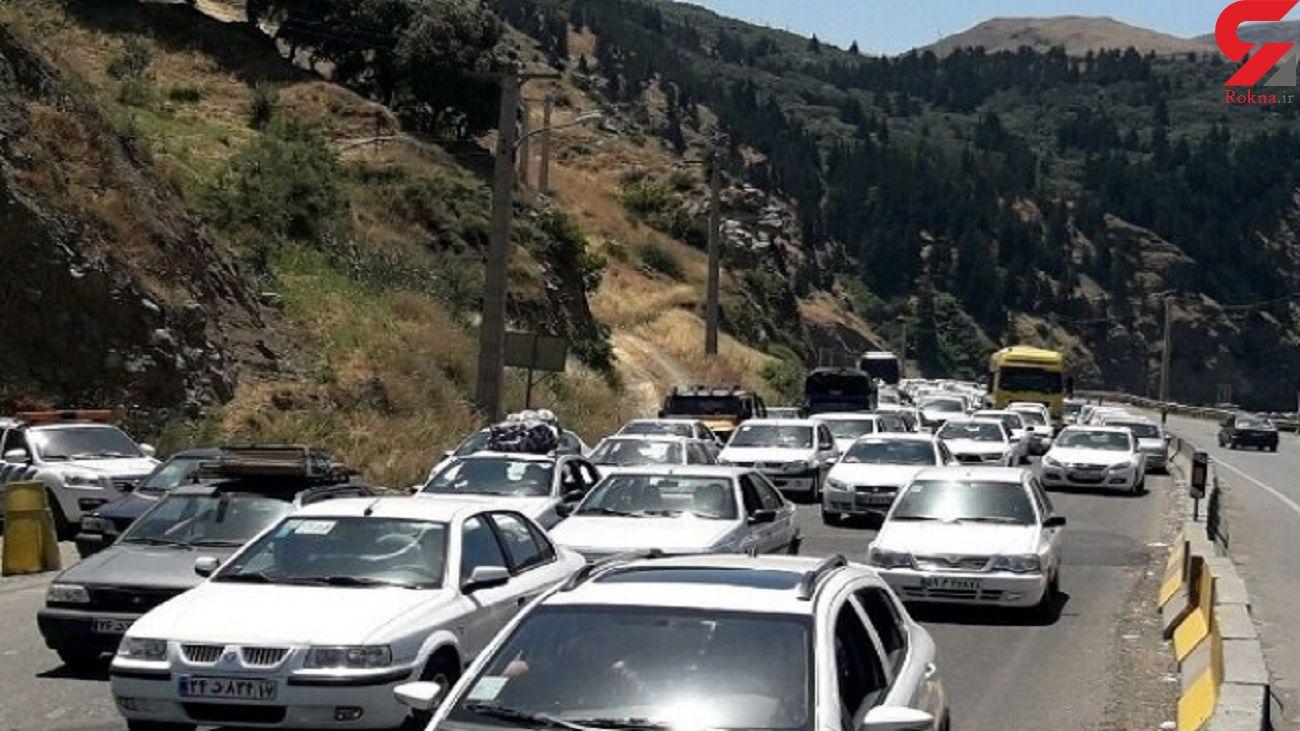 ترافیک سنگین آخر هفته در جاده های شمال