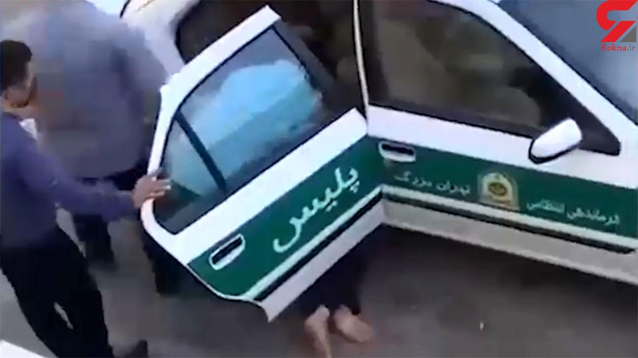 فیلم جدید از لحظه به لحظه درگیری جانباز با پلیس تهران / خودزنی در صحنه !