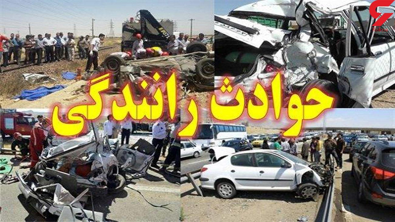 مرگ دلخراش  2 مرد در جاده جویبار / کامیون آنها را له کرد