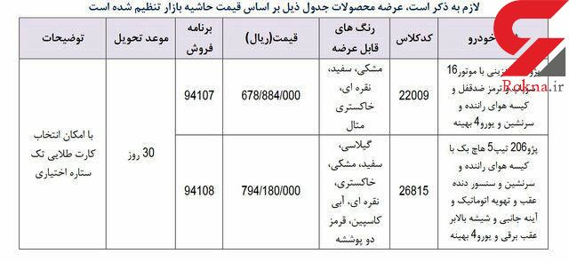 فروش فوری محصولات ایران خودرو از امروز صبح