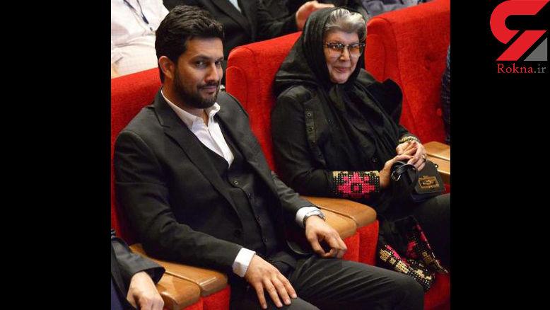 حامد بهداد و مادرش در جشن منتقدان سینما! +عکس