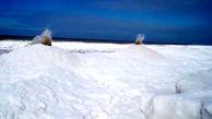 وقوع آتشفشان یخ در دریاچه میشیگان + فیلم