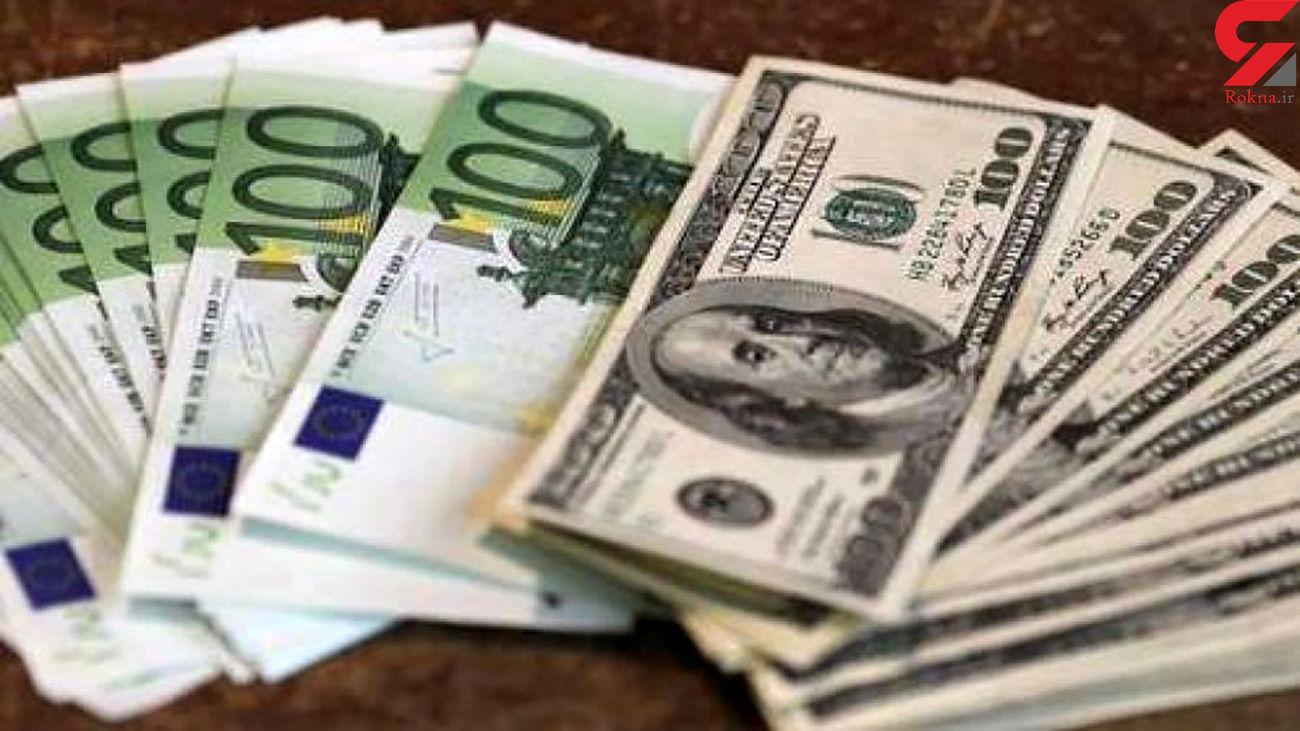 قیمت دلار و قیمت یورو امروز پنج شنبه 18 دی ماه 99 + جدول
