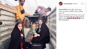 خانم های بازیگر پشت وانت نیسان! + عکس