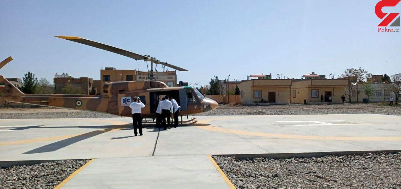 بهره برداری از اورژانس هوایی بیمارستان لقمان حکیم سرخس