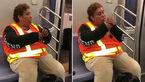 روشن کردن سیگار توسط مامور مترو داخل قطار! +فیلم
